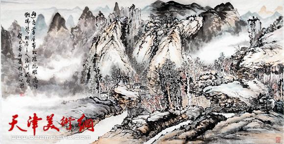 雪豹水彩手绘