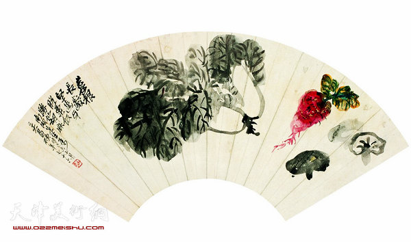 彩铅画花卉扇面步骤