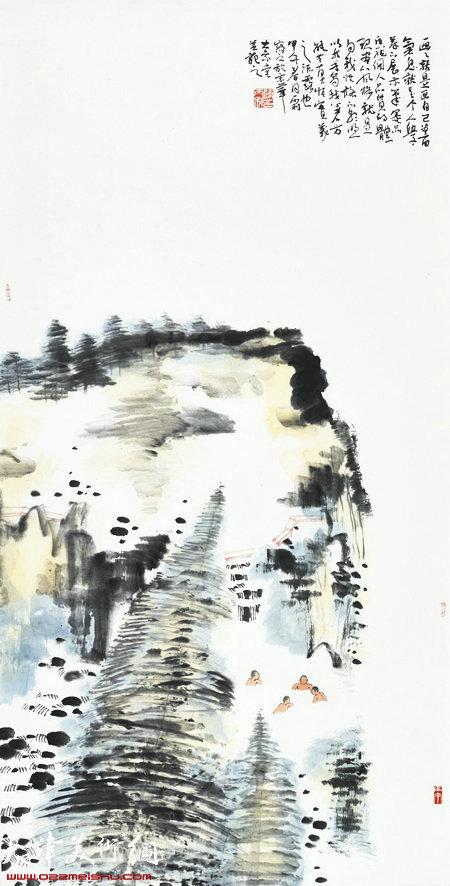 陈丙利山水画作品:《逍遥游系列之二》