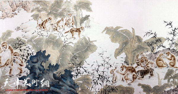 这对于自小喜欢图彩弄墨的韩必省来说,十分震撼,原来动物也可以画成